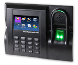 BioFinger Terminal Information for time and attendance system